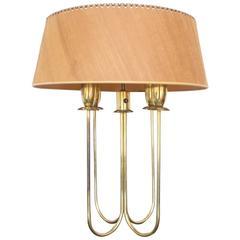 Brass Gold Lightolier Table Lamp