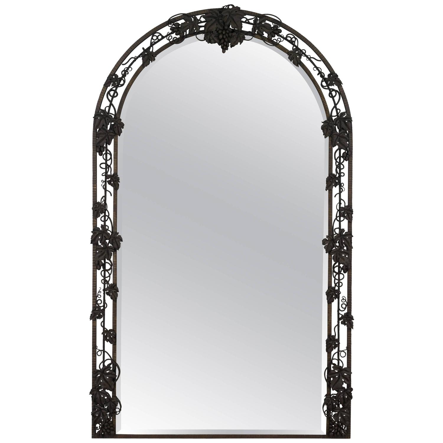 French wrought iron mirror for sale at 1stdibs for Wrought iron mirror