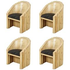 Four Unusual Bamboo Chairs
