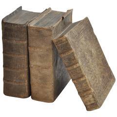 Collection of Three Rare Vellum Books