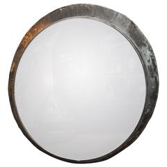 Late 19th Century Large Convex Railroad Station Mirror