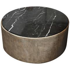 21st Century Custom Concrete and Marble Coffee Table