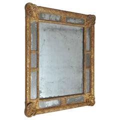 18th Century Classic French Giltwood Mirror