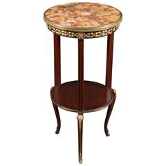 Antique Cylindrical Mahogany Table
