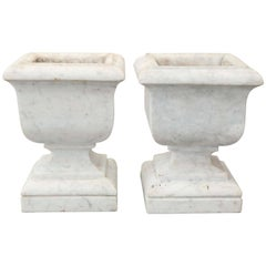 Pair of 19th Century Marble Urns