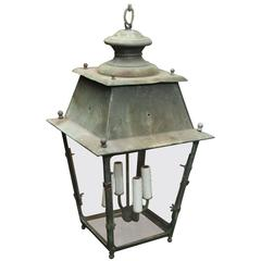 Antique 19th Century French Copper Lantern