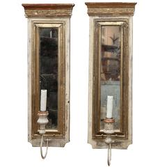 Pair of 19th Century Fragment Sconces