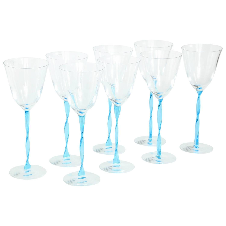 Salviati Murano Wine Glasses Circa 1980s For Sale At 1stdibs