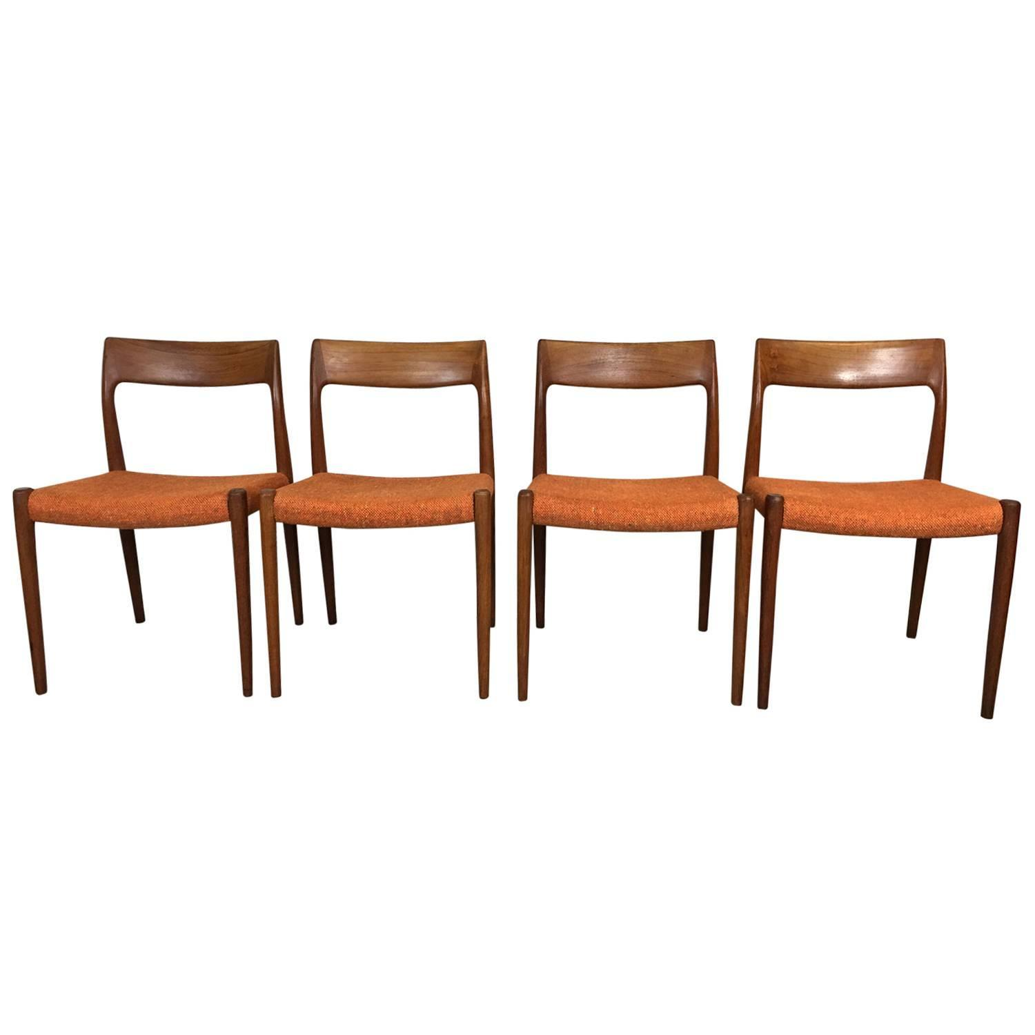 Niels Otto Moller Teak Dining Chairs At 1stdibs