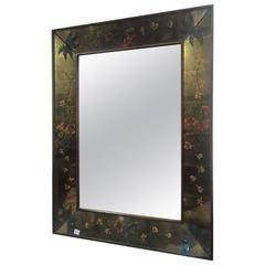 Verene Eglomise Art Deco Wall Mirror