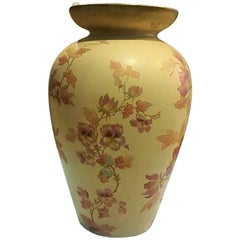 Large Pottery  Vase Signed Pointons, Strokes-on-Trent