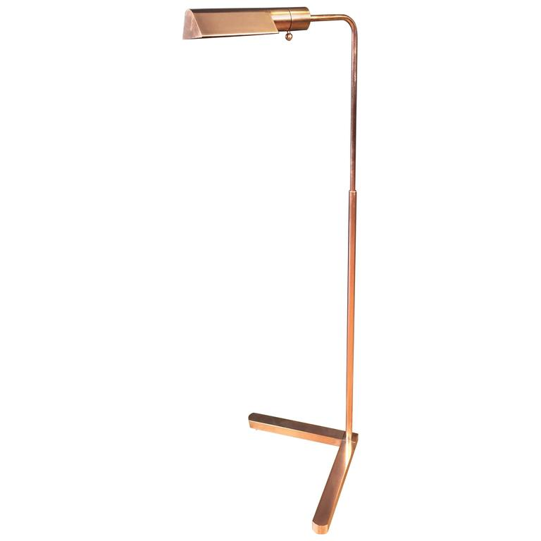 Uncommon Casella Pharmacy Floor Lamp in Copper For Sale