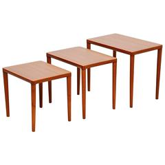 Bramin Nesting Tables in Teak, Denmark, 1965