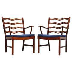 Ole Wanscher Easy Chairs Fritz Hansen, 1944