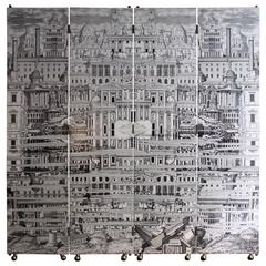 "Piero Fornasetti ""Reflecting City"" Screen"