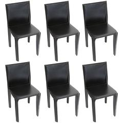 Black Leather Arper Chairs