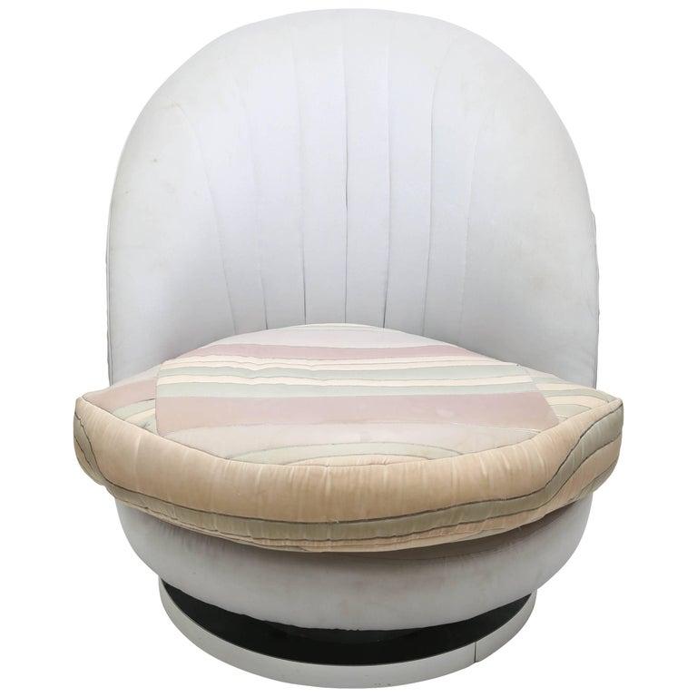 Milo Baughman Chrome Based Swivel Lounge Chair, 1960s, USA For Sale