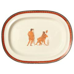 19th Century Creamware Platter in the Etruscan Style