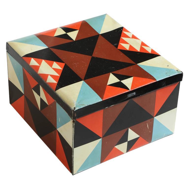 Martel Schwichtenberg German Bauhaus Tin Box For Sale