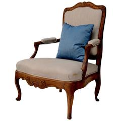 Very Large 18th Century French Rococo Armchair