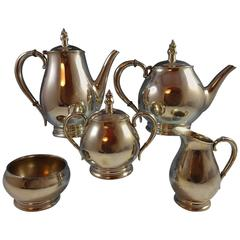 Mid-Century Royal Danish by International Sterling Silver Tea Set Five-Piece