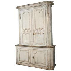18th Century Regency Period Tall Sideboard in Painted Wood