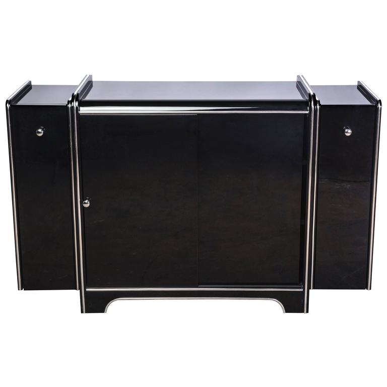 Exceptional Art Deco Sideboard with Bar Extensions
