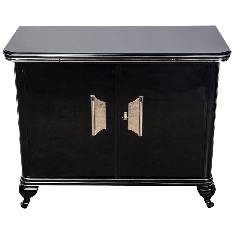 sophisticated art deco commode for sale at 1stdibs. Black Bedroom Furniture Sets. Home Design Ideas