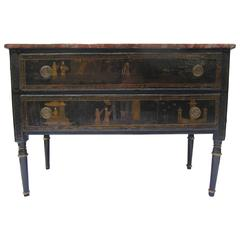 18th Century Chinoiserie Commode with Faux Marble Top