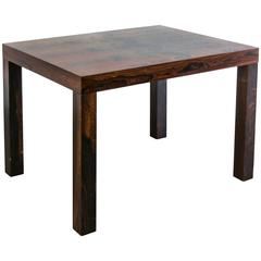 Dramatically Patterned Rosewood Mobler Parsons Table