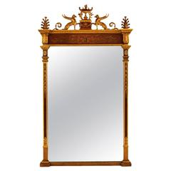 Gilt English Carved Wall Mirror