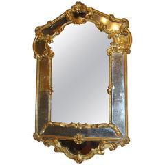 Italian Giltwood Wall or over the Mantle Mirror