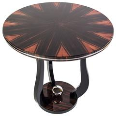 Sensational French Art Deco Side Table with Star-Burst Design