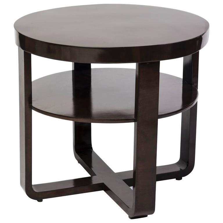 Elegant Art Deco Round Side Table or Gueridon
