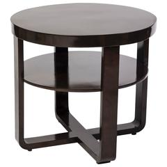 Elegant Art Deco Round Side Table or Gueridon