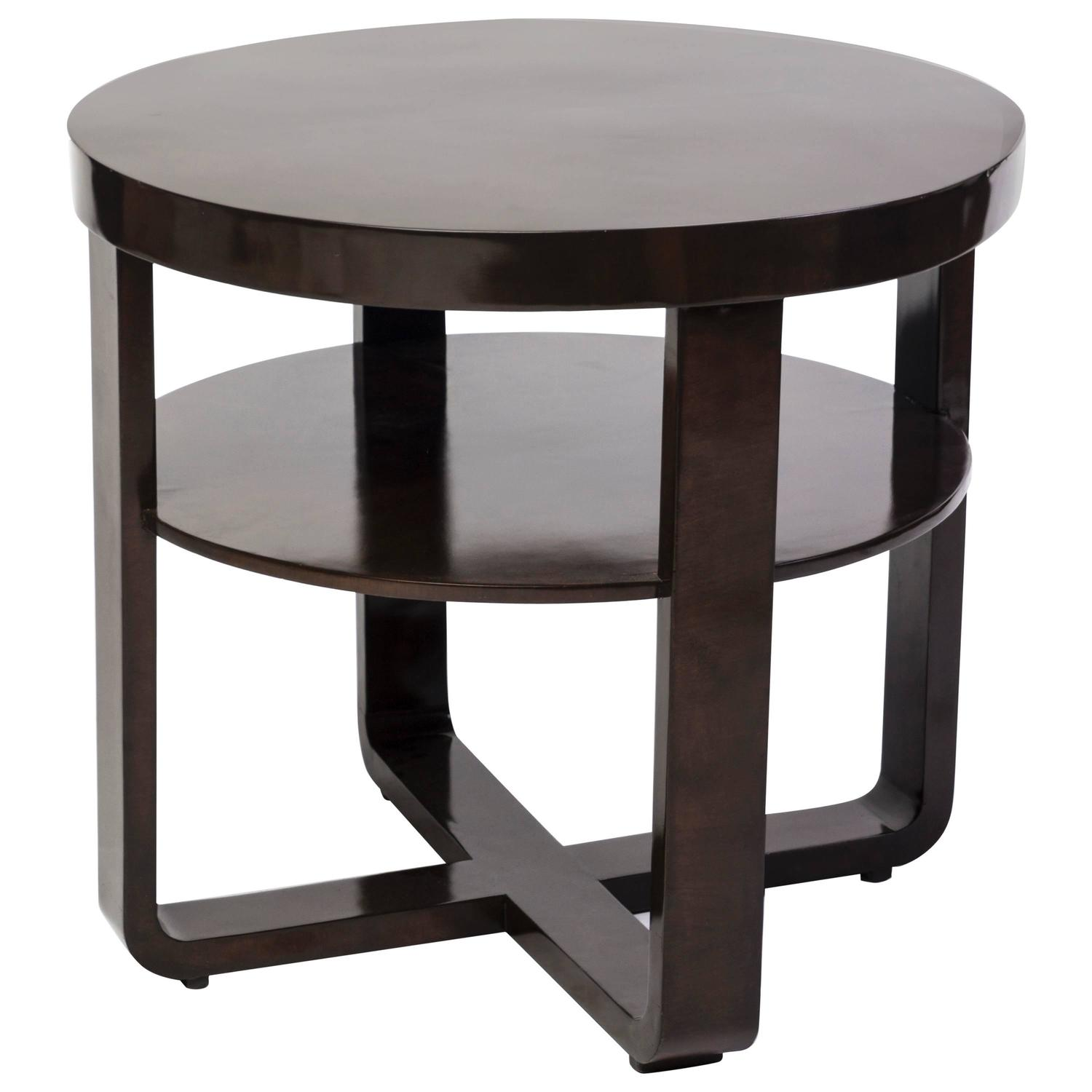 Elegant Art Deco Round Side Table Or Gueridon For Sale At