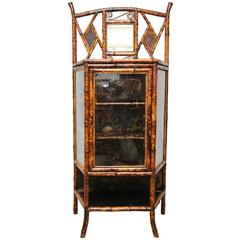 Fine 19th Century English Lacquer Bamboo Cabinet
