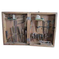 Cobblers Traveling Case of Leather Working Tools