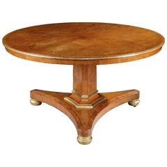 Regency Period Amboyna Centre Table