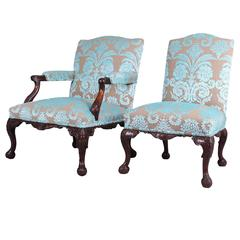 Two Important and Rare Antique 19th Century George II Style Chairs