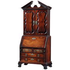 George III Mahogany Miniature Mahogany Bureau Cabinet