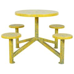 Yellow Splatter Paint Ice Cream Table
