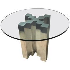 Paul Mayen Aluminum Skyscraper Pedestal Dining Table