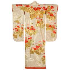 Vintage Brocade Japanese Ceremonial Kimono