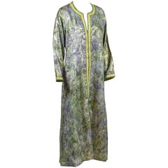 Vintage Moroccan Designer Caftan Maxi Dress Kaftan Size M to L