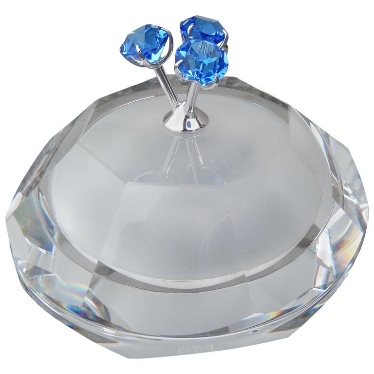 1990s Andree Putman for Swarovski Crystal Covered Box For Sale