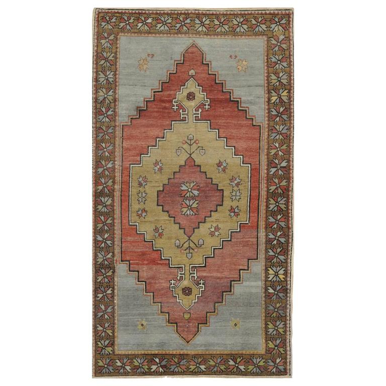 Vintage Handmade Tribal Design Rug For Sale At 1stdibs