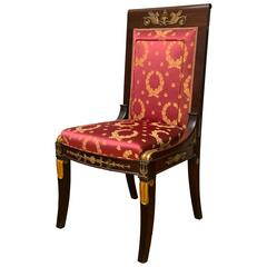 French Empire Period Mahogany Girandole Chair