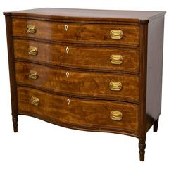 American Ferderal Flame Mahogany Chest of Drawers