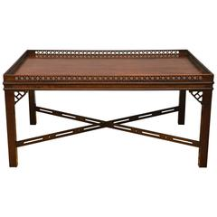 Mahogany Chinese Chippendale Style Cocktail Table